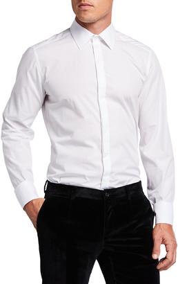 Dolce & Gabbana Men's Point-Collar Hidden-Button Dress Shirt