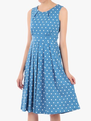Jolie Moi 50s Spot Print Fit and Flare Dress