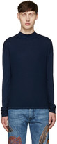 Diesel Black Gold Navy Mock Neck T-shirt
