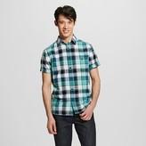 Men's Short Sleeve Shirt Green Plaid - Mossimo Supply Co.