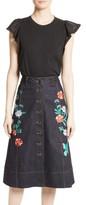 Kate Spade Women's Flutter Sleeve Top