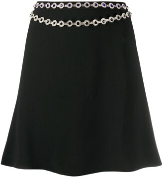 Christopher Kane Chain-Belt Mini Skirt