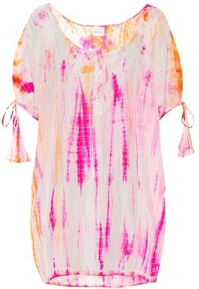 Anna Kosturova Exclusive to Mytheresa Tie-dye silk minidress