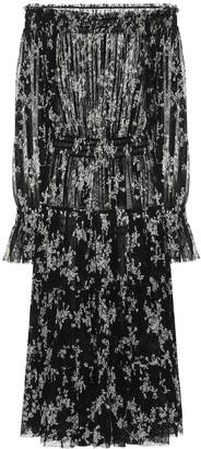 Norma Kamali Floral-print midi dress