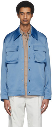 Tibi Blue Duchesse Workmens Jacket