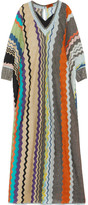 Missoni Striped Metallic Stretch-knit Kaftan - Beige