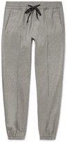 Marc Jacobs Tapered Virgin Wool-Flannel Drawstring Trousers