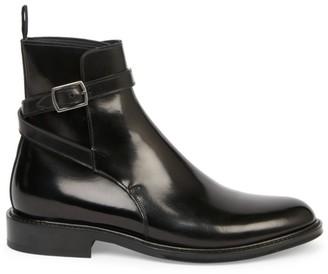 Saint Laurent Army Buckle Leather Combat Boots