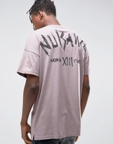 Asos Oversized Longline T-Shirt With Text Back Print