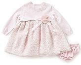 Bonnie Jean Bonnie Baby Baby Girls Newborn-24 Months Sweater-Knit Lace-Overlay Dress