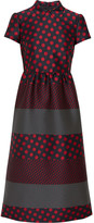 RED Valentino Polka-dot Jacquard Midi Dress - Crimson