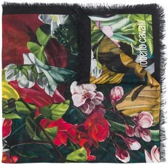 Roberto Cavalli Paradise Found print scarf