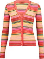 Missoni Striped crochet-knit wool-blend cardigan