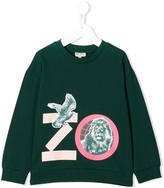 Kenzo Kids Animal Print Sweatshirt