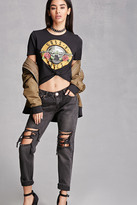 Forever 21 FOREVER 21+ Raw-Cut Distressed Jeans