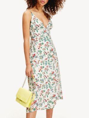 Tommy Hilfiger Viscose Floral Print Cami Strap Dress