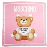 Moschino Women's Paper Doll Bear Silk Scarf
