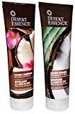 Desert Essence Coconut Shampoo & Conditioner - 8 oz.(Bundle)
