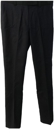 Whistles Blue Cotton Trousers for Women