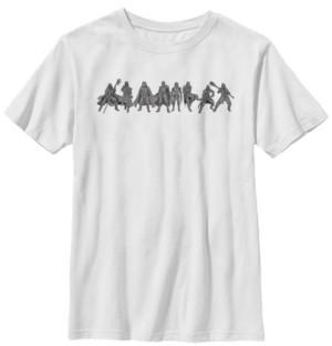 Star Wars Big Boys Kylo Ren New Order Lineup Short Sleeve T-Shirt