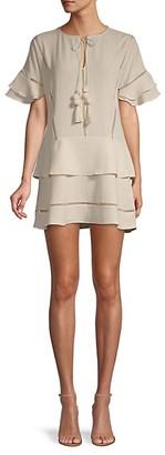 Central Park West Collins Tassel Mini Dress
