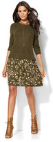New York & Co. Twofer Sweater Dress - Floral