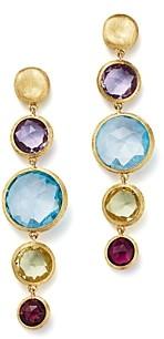 Marco Bicego 18K Yellow Gold Jaipur Multicolored Gemstone Drop Earrings