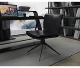 Modloft Duane Genuine Leather Side Chair Black Upholstery Color: Aged Onyx