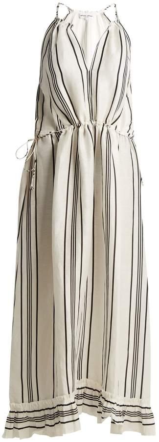 Apiece Apart Himalaya striped linen and silk-blend dress
