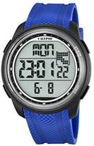 Calypso Unisex Digital Watch with LCD Dial Digital Display and Blue Plastic Strap K5704/3