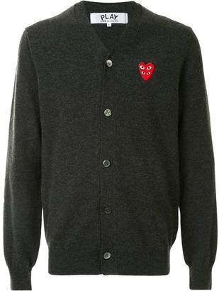 Comme des Garcons Logo-Embellished Cardigan