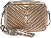Saint Laurent Lou Medium Monogram Metallic Leather Camera Bag