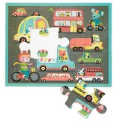 Chronicle Books Boy's Mudpuppy On The Road Puzzle Pouch 12-Piece Puzzle