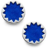 House Of Harlow Exclusive Suede Sunburst Button Earrings