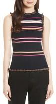 Rebecca Taylor Women's Stripe Rib Knit Tank