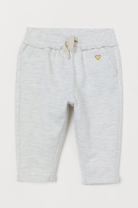 H&M Joggers with Embroidery - Gray