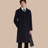 Burberry Double-faced Wool Car Coat , Size: 58, Blue