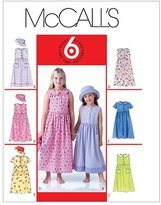 Mccall's M4432 Children's/Girls' Dresses and Hat, Size CCE (3-4-5-6) by