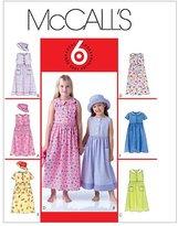 Mccall's M4432 Children's/Girls' Dresses and Hat