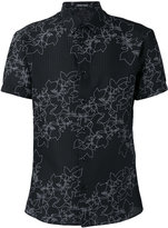 Emporio Armani floral-embroidered shirt - men - Cotton/Polyamide/Polyester/Spandex/Elastane - 40