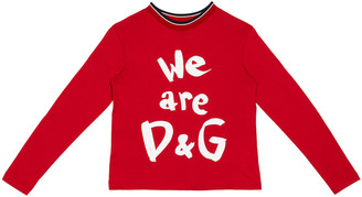 Dolce & Gabbana Girl's We Are Logo Printed Shirt, Size 4-6