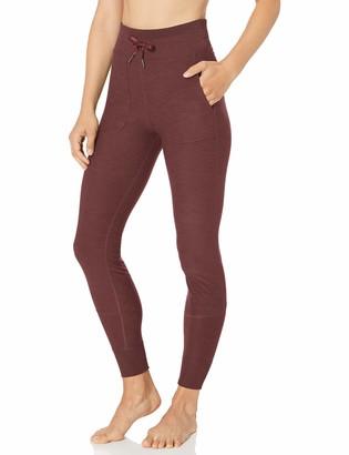 Core 10 Cozy High Waist Legging With Pockets Plum Heather 2X (18W-20W)