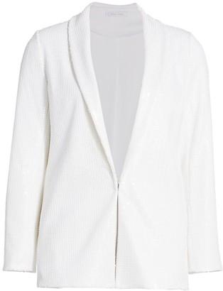 Joan Vass Sequin Blazer Jacket