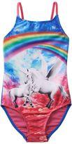 Girls 4-16 SO® Rainbow Unicorn One-Piece Swimsuit