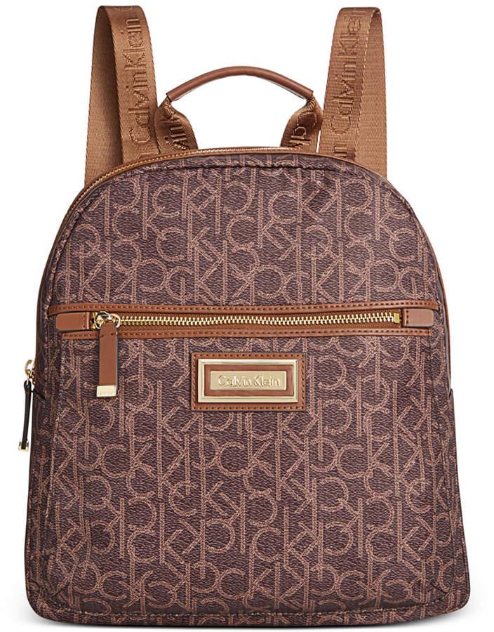 5acf9253f1b Calvin Klein Brown Women's Backpacks - ShopStyle