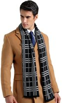 SK Studio Men's Dress Casual Plaid Classic Lightweight Oversized Scarves