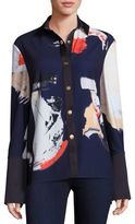 SOLACE London Printed Snap-front Shirt