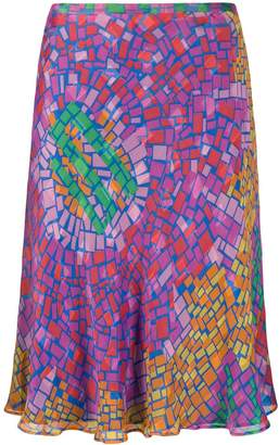 Jean Louis Scherrer Pre-Owned 1990's mosaic printed skirt