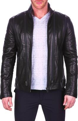 Maceoo Multi Zip Leather Bomber Jacket