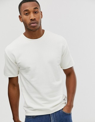 Lee sweatshirts with short sleeve and dropped shoulder-White
